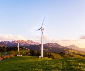 windmill in the hills