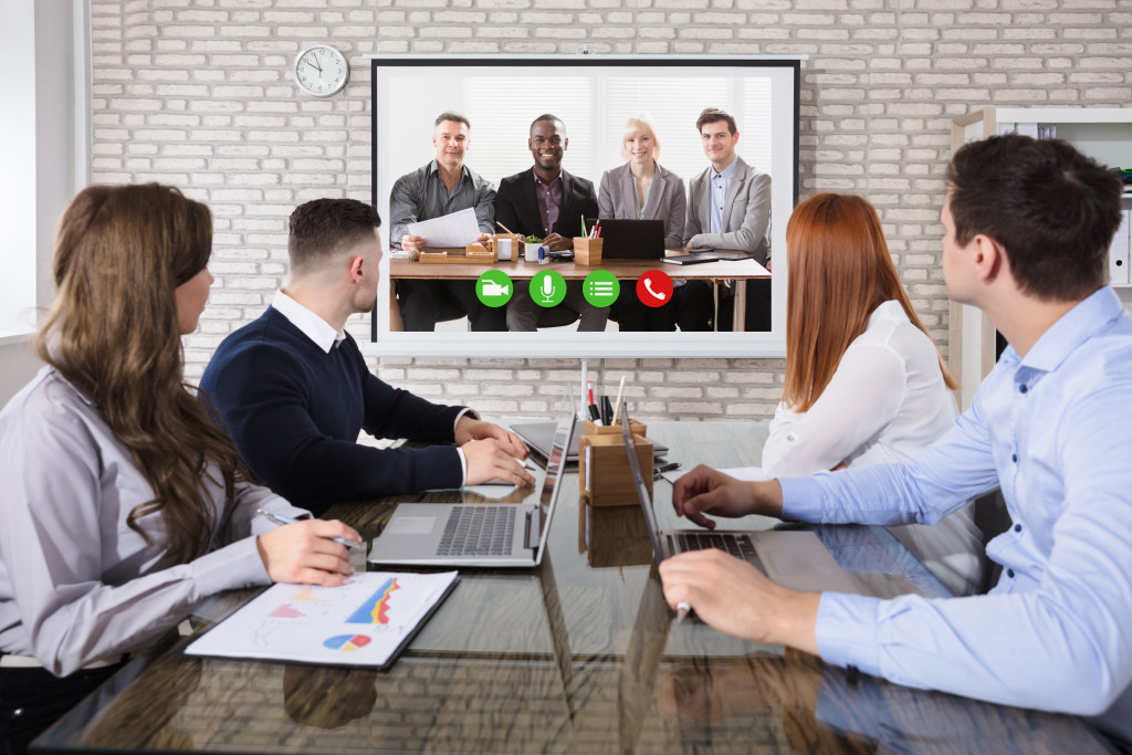 people on a video conference
